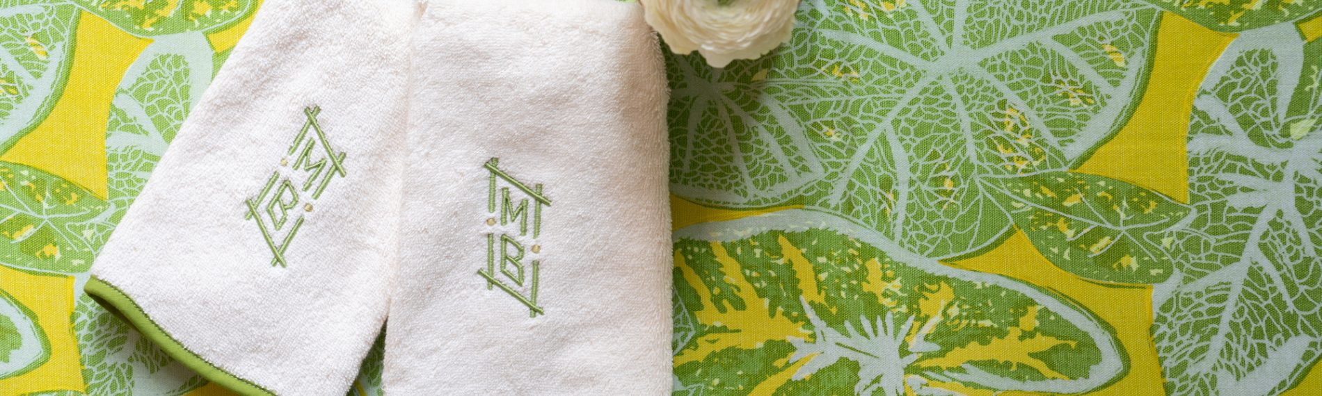 Modern linens made to last towels