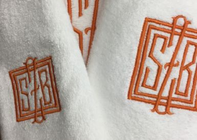 Bath Trey Embroidery
