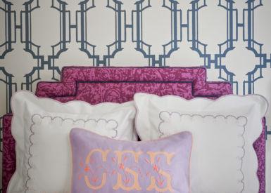 Bed Listte Embroidery Border Darcy Applique Monogram