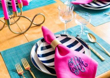 Melissa Embroidery Dinner Napkin